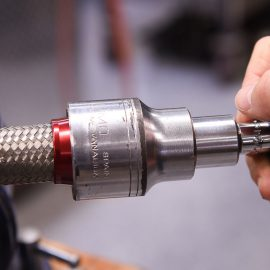 How to Easily Install Braided, Stainless Hose to the Threads of AN Fittings