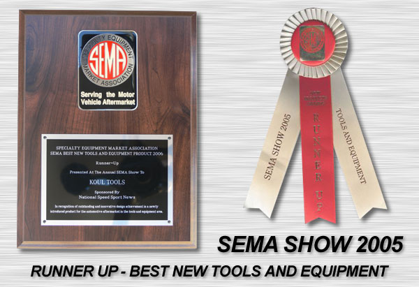 AN Hose Assembly Tool runner up award at SEMA 2005