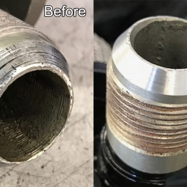 Repair leaky fittings on an aircraft boost pump