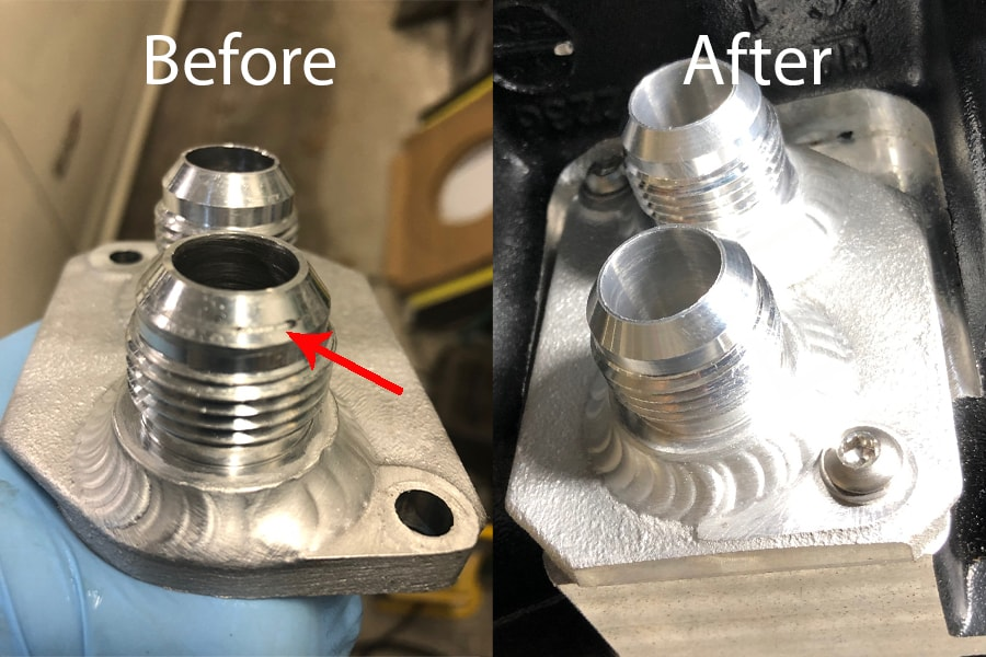 Repaired fitting