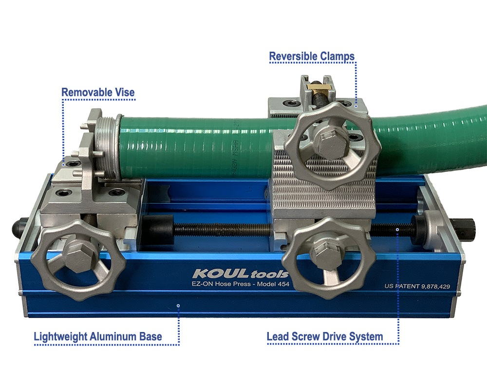 Infographic of EZ ON Hose Press Model 454